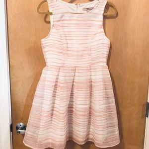 Pink & white stripped dress